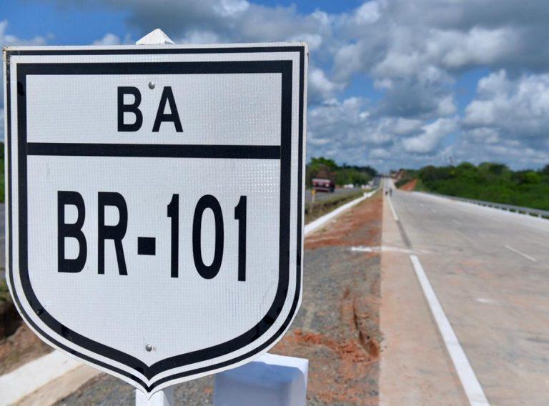 Com duplicações na BR-101, Governo Federal supera 180 quilômetros de novas pistas na Bahia
