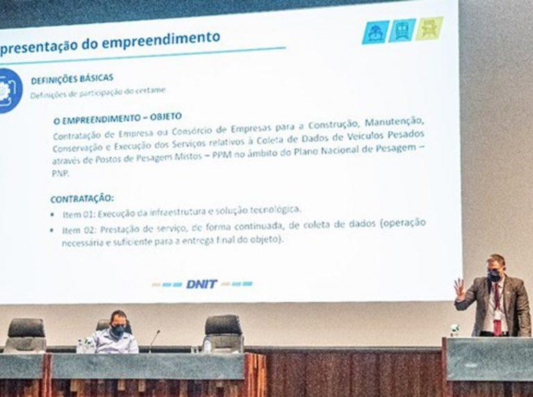DNIT realiza audiência pública para contratação de Postos de Pesagem Misto