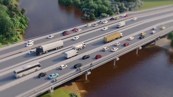DNIT dá início às obras de implantação das pontes sobre o rio dos Sinos na BR-116/RS
