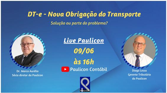 Live Paulicon – DT-e – Nova obrigação do transporte
