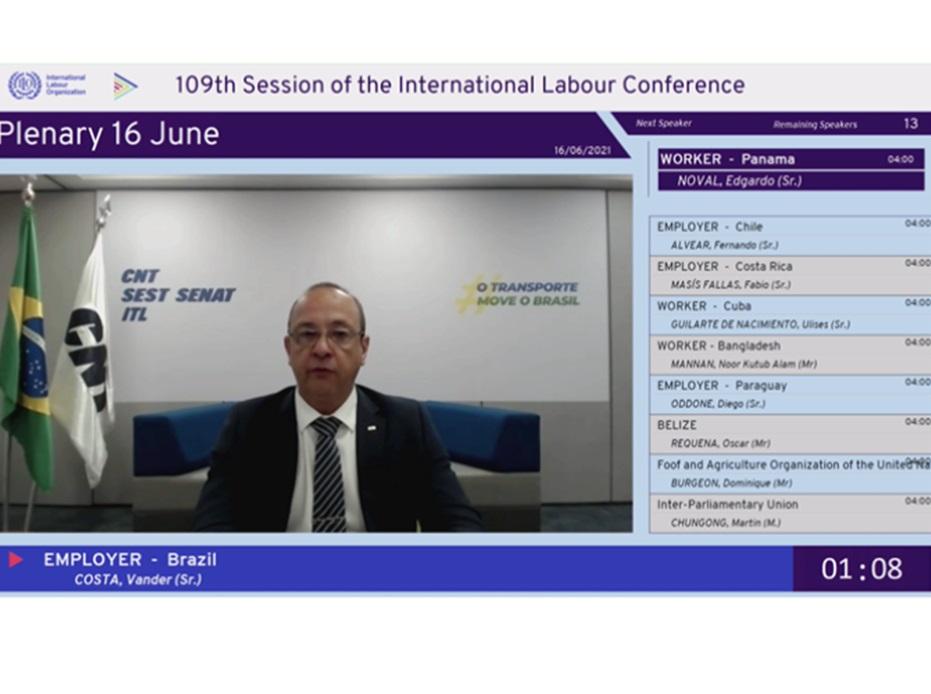 Presidente da CNT defende na OIT a requalificação profissional e a retomada das reformas